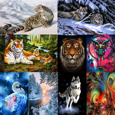 DIY 5D Diamond Painting Beauty Animals Embroidery Cross Crafts Stitch Home Decor