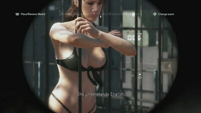 """236 Metal Gear Solid - Quiet Snake Rising v the Phantom Pain Game 24""""x14"""" Poster"""