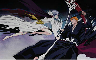 "225 Bleach - Dead Rukia Ichigo Fight Japan Anime 22""x14"" Poster"