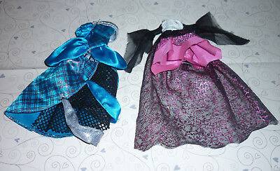 Dresses x 2 from Assorted Monster High Dolls for Play/ OOAK