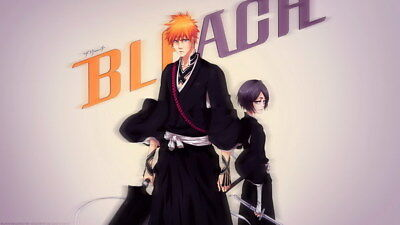 "270 Bleach - Dead Rukia Ichigo Fight Japan Anime 24""x14"" Poster"