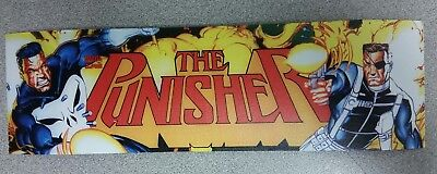 The Punisher Arcade marquee sticker. 3 x 10. (Buy 3 stickers, GET ONE FREE!)