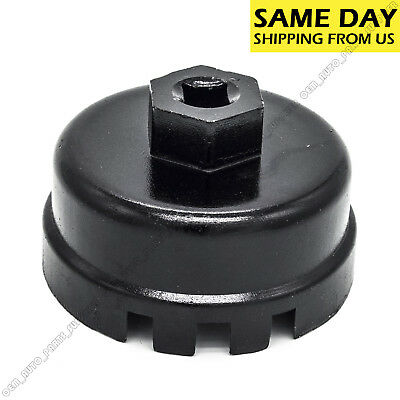 64MM 14 Flute Oil Filter Cap Wrench Tool For Toyota Lexus Scion 2.5L-5.7L Engine