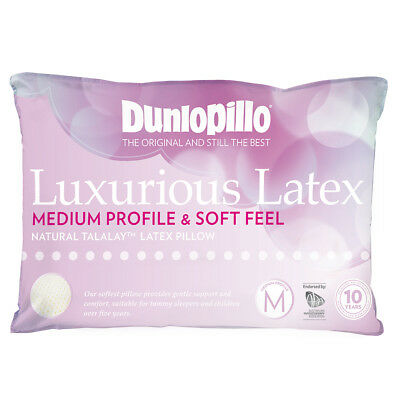 NEW Dunlopillo Luxurious Latex Medium Profile & Soft Pillow