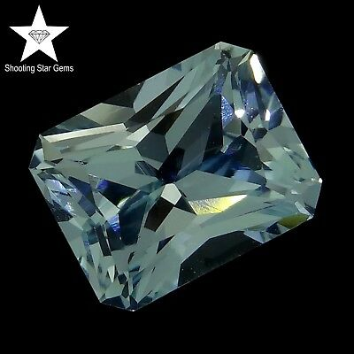 radiant cut natural aquamarine 3.42ct genuine loose gemstones