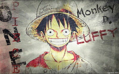 """333 One Piece - ACE OP Monkey D Luffy Fighting Japan Anime 38""""x24"""" Poster"""