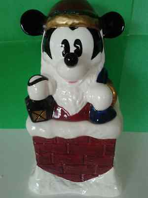Mickey Mouse Cookie Jar Christmas **new**  Retired