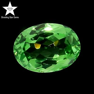 oval cut natural tsavorite garnet 0.57ct genuine loose gemstones