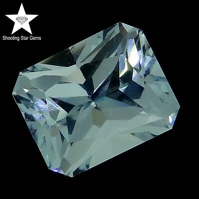 radiant cut natural aquamarine 6.06ct genuine loose gemstones