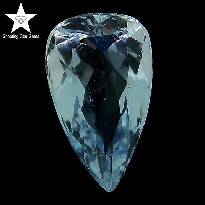 pear cut natural aquamarine 2.29ct genuine loose gemstones