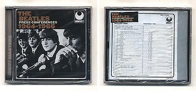 Cd THE BEATLES Press Conferences 1964-1966 NUOVO sigillato Uncut Conferenze