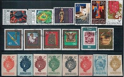 LIECHTENSTEIN - Mixed lot of 12 Stamps PLUS 1920 National Arms Imperf set GU-MLH