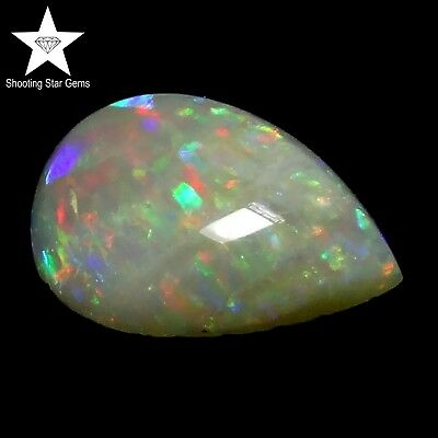 natural coober pedy opal pear cabochon 1.08ct genuine loose gemstones