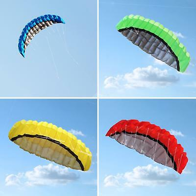 2.5M Dual Line Stunt Parafoil Parachute Beach Kite Surfing Outdoor Toys Comely