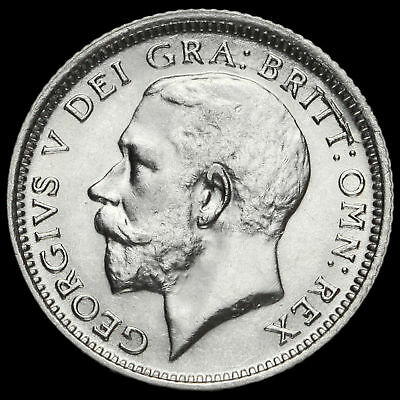 1926 George V Silver Sixpence, Second Coinage, Scarce, Mint Error