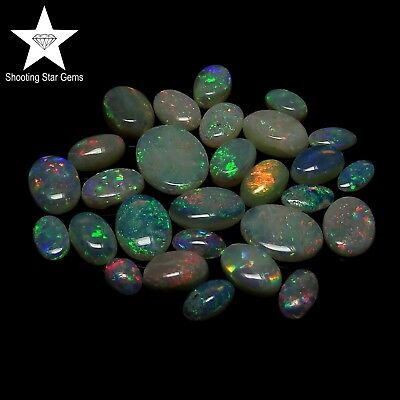 mixed natural Australian opals oval 8.08ct genuine loose gemstones