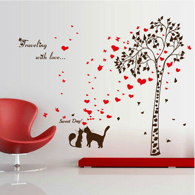 DIY Removable Wall Stickers Tree Home Decor living room Corridor Decal Mural US