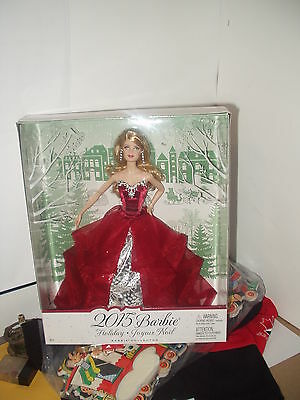Two Beautiful Barbie Holiday Collector Dolls New 2015, Package Deal!