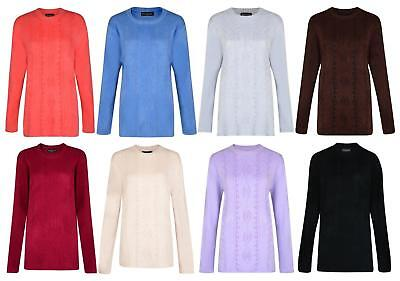 Ladies Jumper Knitwear Patterned Side Split Jumpers Uk 14,16,18,20 #75 Bnwt