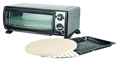 GOURMETmaxx 04218 Electric Mini Compact Oven and Grill with Timer | 12 Litre | 1