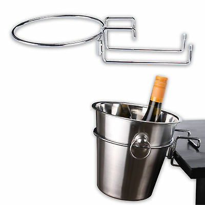 Chrome Plated Table Desk Side Champagne Wine Ice Bucket Holder Chrome Bucket NEW
