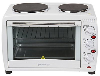 Igenix IG7126 Mini Oven and Grill with Double Hotplates - 26 L