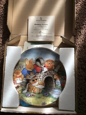 Royal Doulton Budding Artists plate with certificate