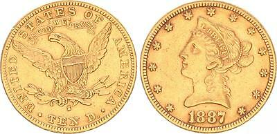 USA 10 Dollar 1887 Gold Eagle ss