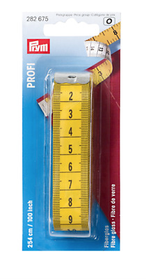 PRYM PROFESSIONAL FIBRE GLASS TAPE MEASURE  Length: 254CM / 100 inch + FREE P&P