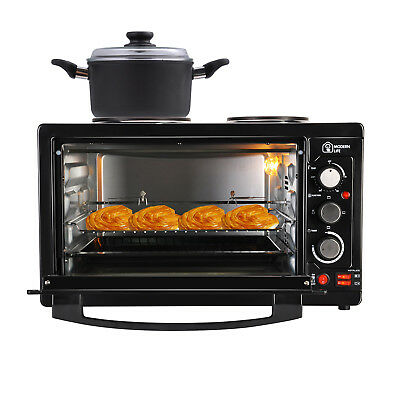 ModernLife Mini Oven Double Hotplate 45L Grill Convection Electric Rotisserie UK