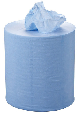 Essentials C2B159F Centrefeed Roll, 2 Ply, Blue, 150 m x 190 mm, Set of 6