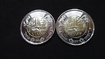 2017 Canada   Vimy Ridge 100th Anniversary Two dollar coin  set of two coins