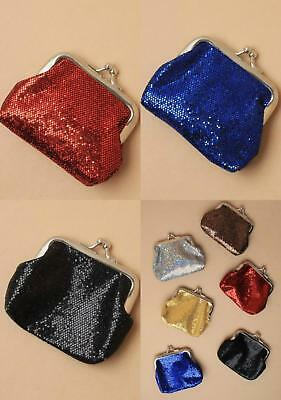 Sparkly Sequin Coin Purse With Ball Snap Clasp In 6 Colours