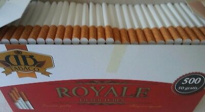 550x Empty Tobacco Cigarette Filter Tubes Royale King Size