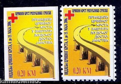 Red Cross, Bosnia 2006 MNH Perf+ Imperf