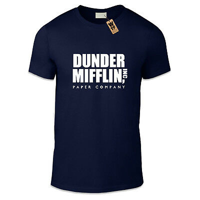 DUNDER MIFFLIN Casual Fit T-Shirt Various Colours and Sizes Office Paper Funny