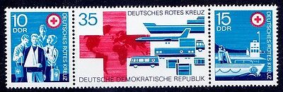 Red Cross, Airplanes, Ships, Germany DDR 1972 MNH Strip