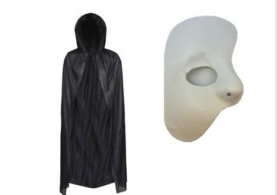 Mens Halloween Fancy Dress Phantom Of The Opera Cape Mask Adult Party
