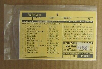 Nos Walthers O Scale Decal - Louisville & Nashville (L&n) Box Car #61-15