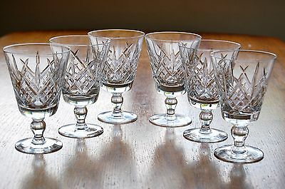 "6 Superb 150ml Royal Doulton/Webb Corbett JULIA 5"" x 3 1/4"" Crystal WINE GLASSES"