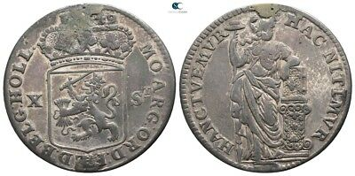 Savoca Coins Netherland 10 Stuivers Silver 4,79 g / 28 mm $KBS12607