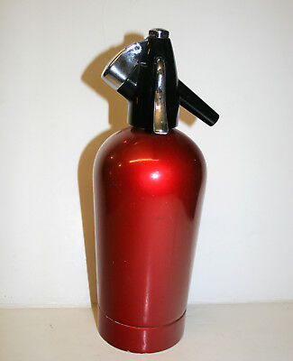 Vintage Engine Red BOC Soda Syphon Bar Kitchen Accessory 12in Tall