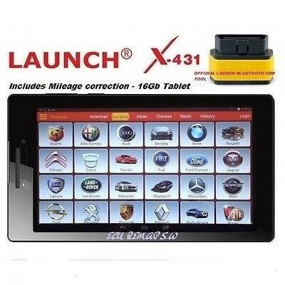 "Launch x431 PRO3 Pro Diagnostic Vans cars-reset dpf regen-Service oil-10"" Tablet"