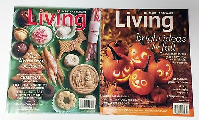 Martha Stewart Living Holiday Magazines - Dec 2008 + Oct 2010