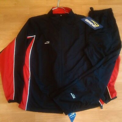 BRINE Men's Warm Up Suit/Training Suit - Black/Red - Large - NEW