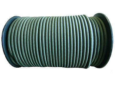 Olive Green - Elastic Bungee Rope Shock Cord Basha Survival Army Military 6-10Mm
