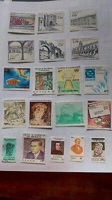 Collection of 51 Mexican stamps