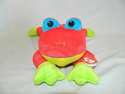 """VTG retired 1998 TY Pillow Pals Red Tree Frog New with Tag 14"""" plush"""