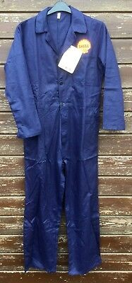 "RARE! Retro Classic Forties Navy Shell Badged Rubber Buttoned Overalls 40"" Chest"