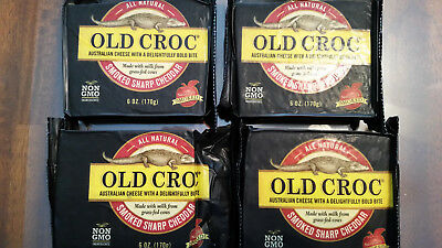 Smoked Sharp Cheddar Cheese 6 oz (170g) ea - 4 pack - by Old Croc